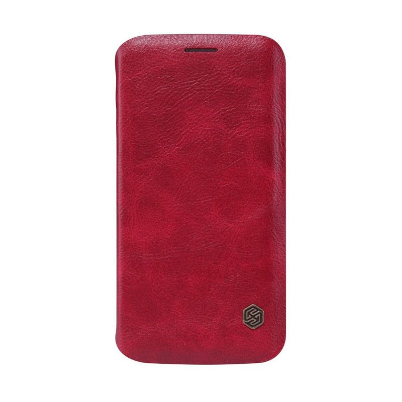Nillkin QIN Leather Red Casing for Samsung Galaxy S6 Edge G925