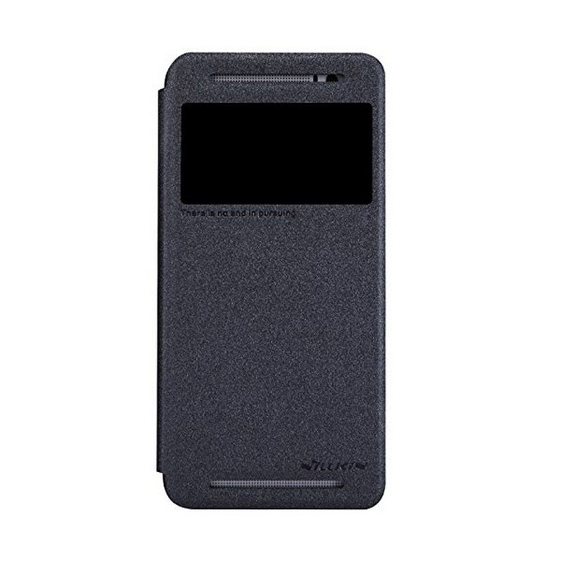 NILLKIN Sparkle Leather Black Casing for HTC One E8