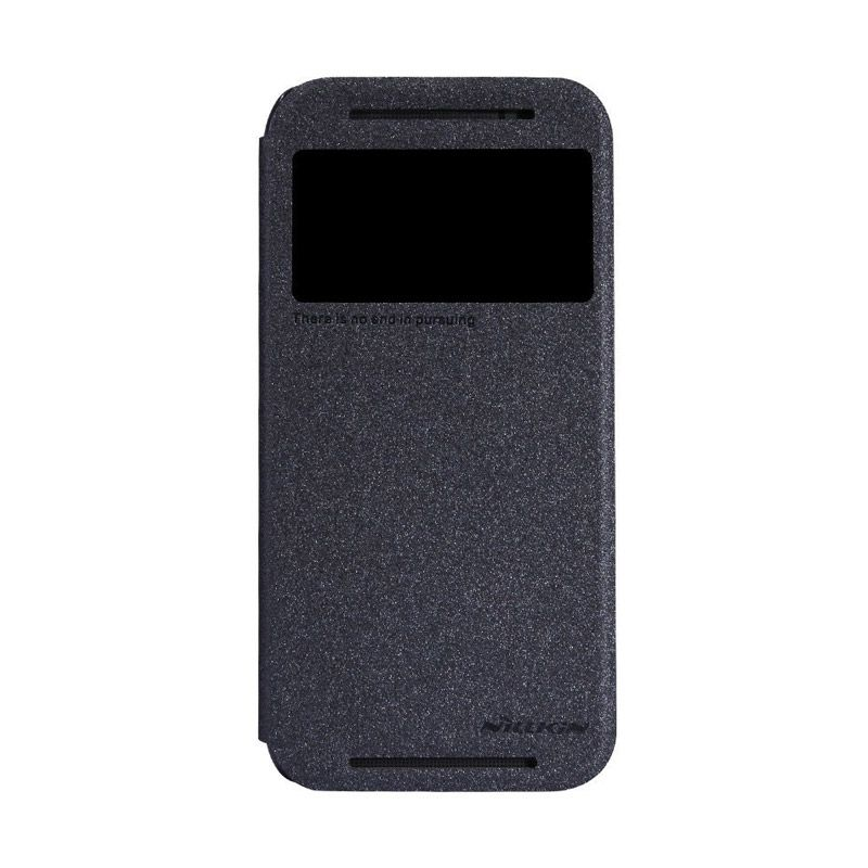 NILLKIN Sparkle Leather Black Casing for HTC One M8