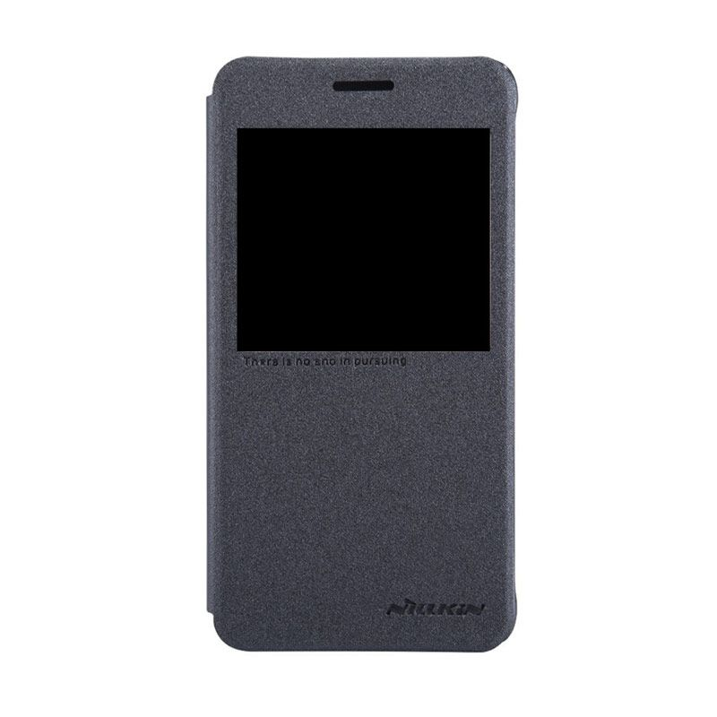 NILLKIN Sparkle Leather Black Casing for Samsung Galaxy Alpha G850