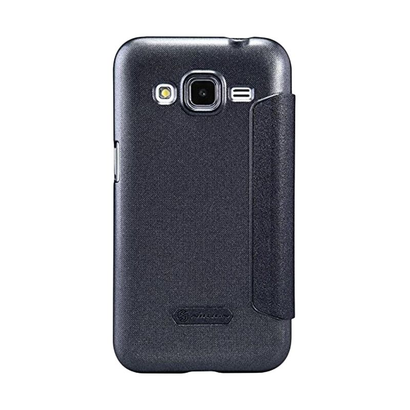 NILLKIN Sparkle Leather Black Casing for Samsung Galaxy Core Prime