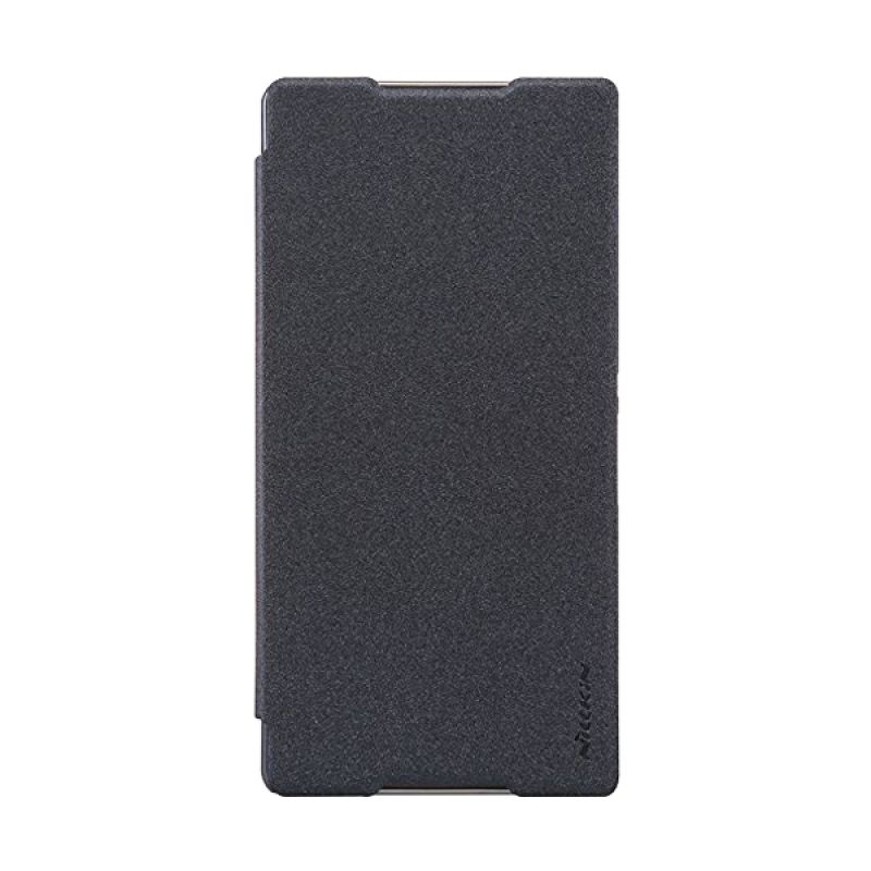 Nillkin Sparkle Leather Black Casing for Sony Xperia C5 Ultra
