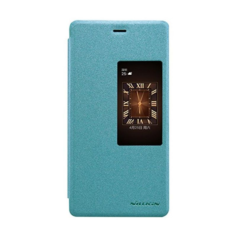 Nillkin Sparkle Leather Blue Casing for Huawei Ascend P8