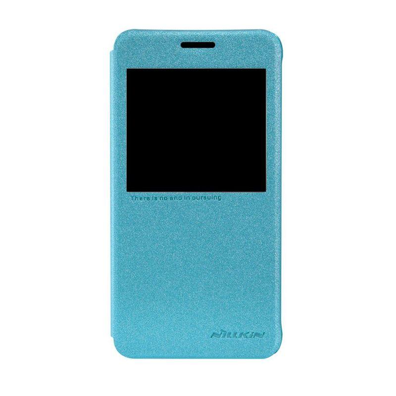 NILLKIN Sparkle Leather Blue Casing for Samsung Galaxy Alpha G850