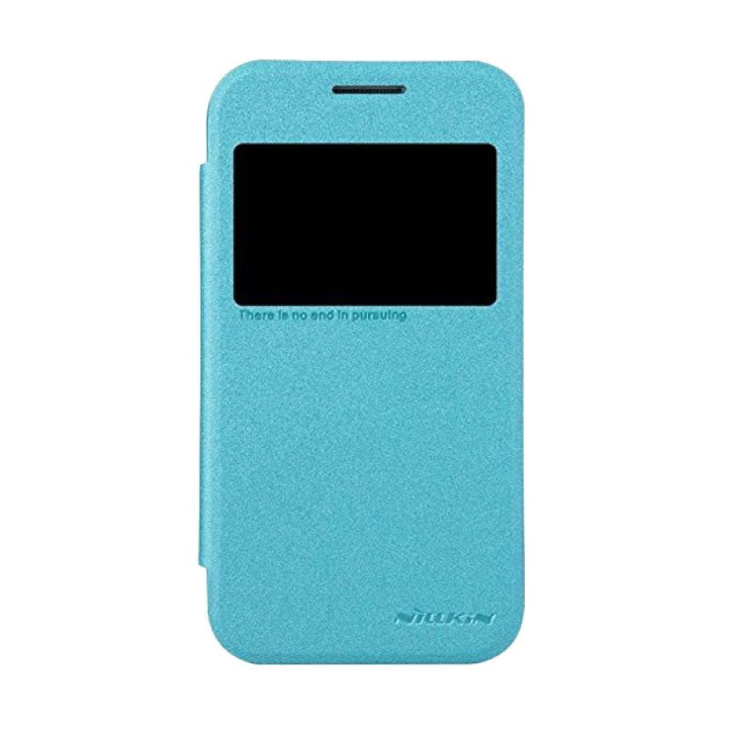 NILLKIN Sparkle Leather Blue Casing for Samsung Galaxy Core Prime