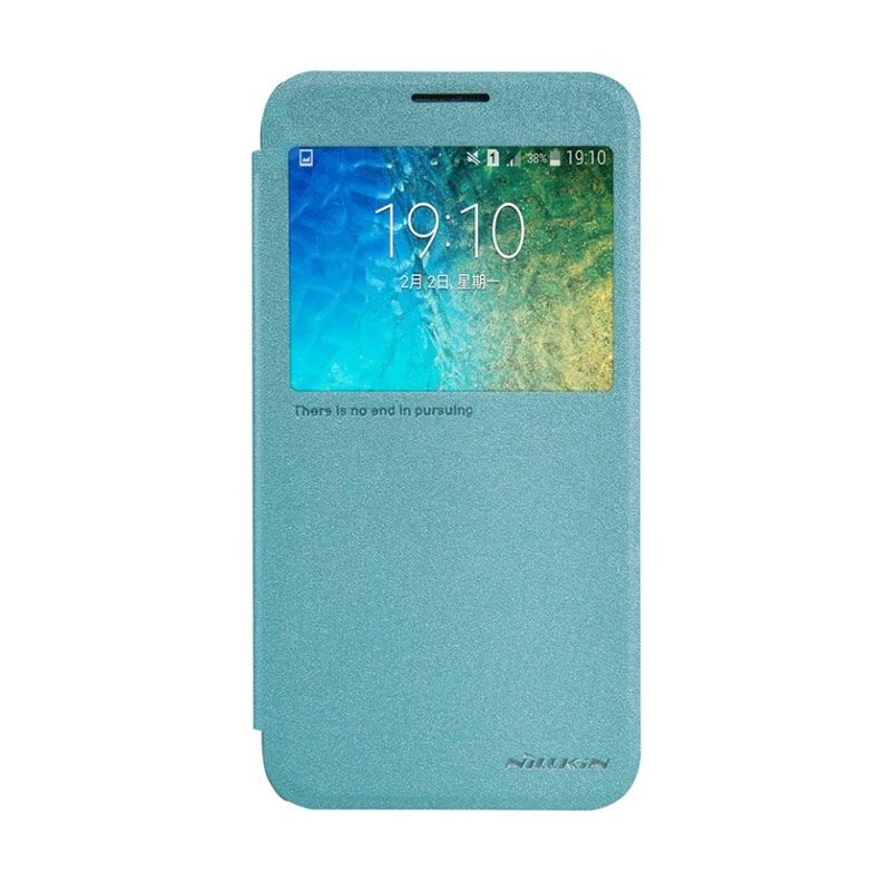 Nillkin Sparkle Leather Blue Casing for Samsung Galaxy E5 E500