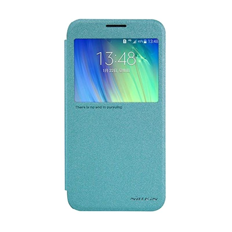 NILLKIN Sparkle Leather Blue Casing for Samsung Galaxy E7