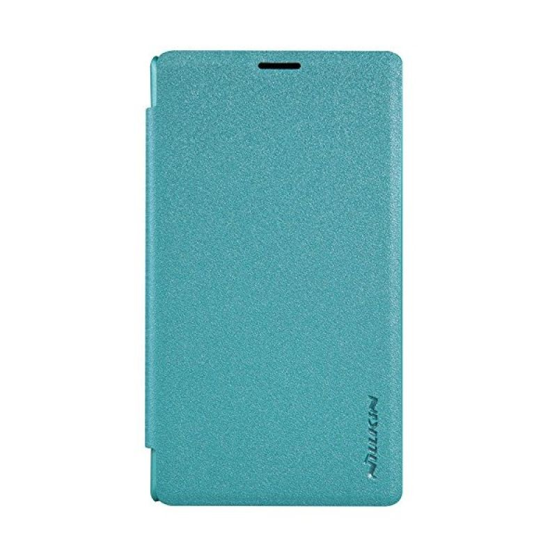 Nillkin Sparkle Leather Blue Casing Nokia Lumia 435