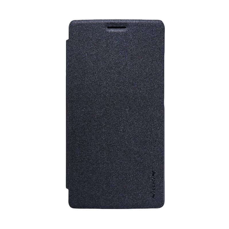 Nillkin Sparkle Leather Case Black Casing for OnePlus 2