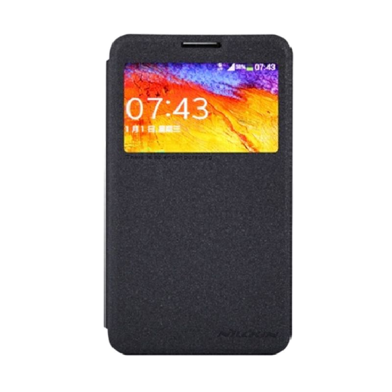 Nillkin Sparkle Leather Black Casing for Samsung Galaxy Note 3 Neo N7505
