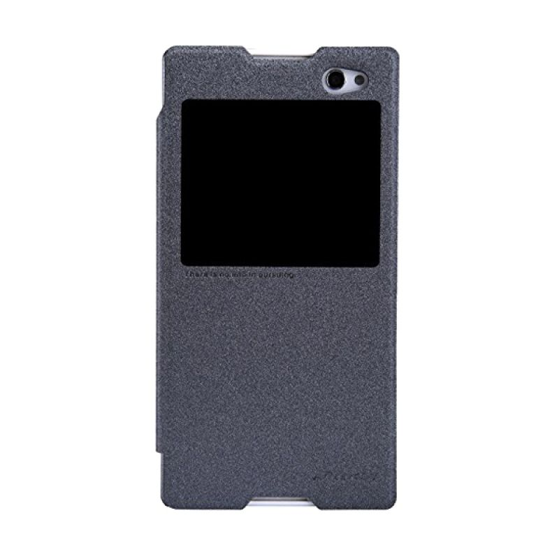 Nillkin Sparkle Leather Black Casing for Sony Xperia C3/C3 Dual S55T