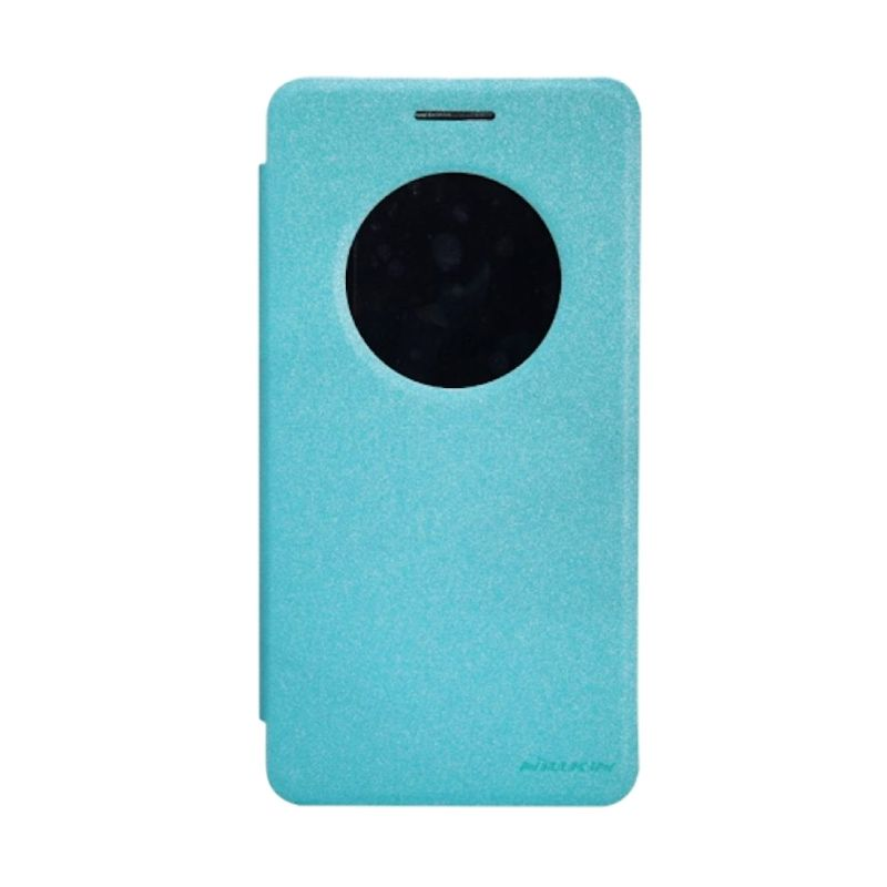 Nillkin Sparkle Leather Case Blue Casing for Asus Zenfone 6