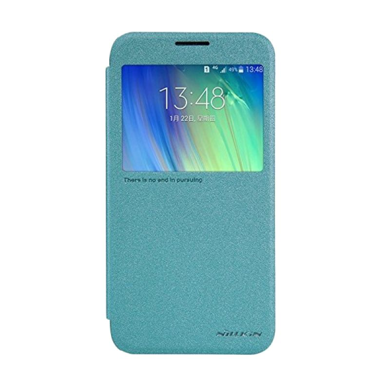 Nillkin Sparkle Leather Blue Casing Samsung Galaxy E7 E700
