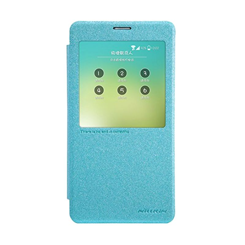 Nillkin Sparkle Leather Blue Casing for Samsung Galaxy Note 4 N9100