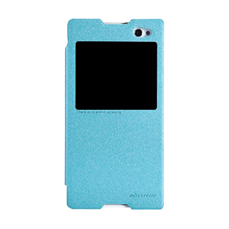 Nillkin Sparkle Leather Blue Casing for Sony Xperia C3/C3 Dual S55T
