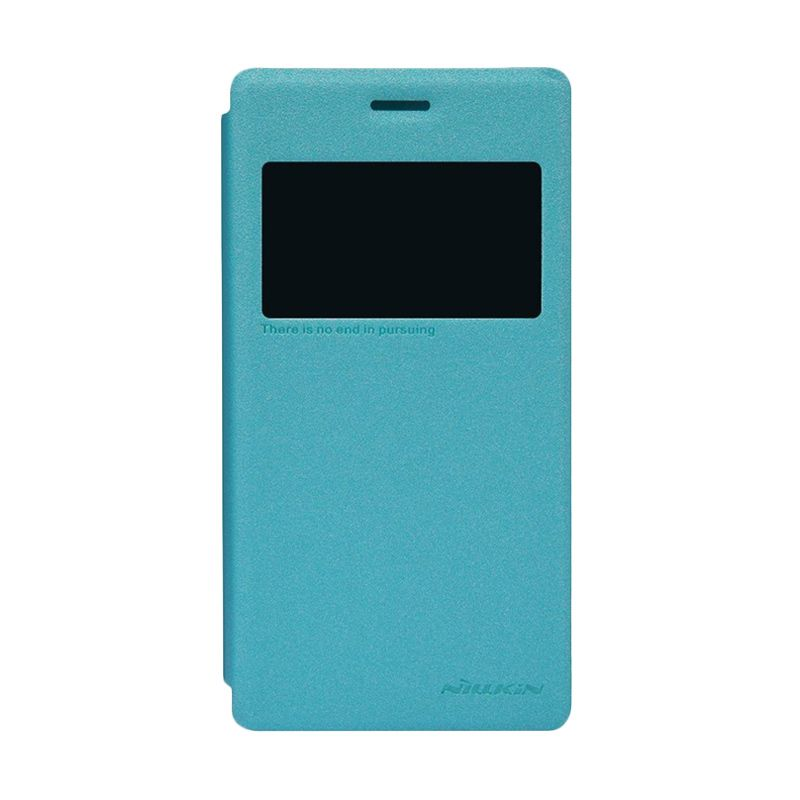 NILLKIN Sparkle Blue Leather Casing for Sony Xperia M2 S50h