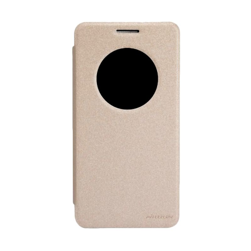 Nillkin Sparkle Leather Case Gold Casing for Asus Zenfone 6