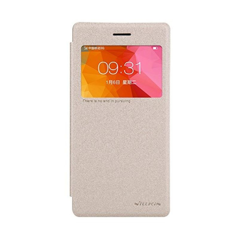 Nillkin Sparkle Gold Leather Casing for Oppo R5 [R8107]