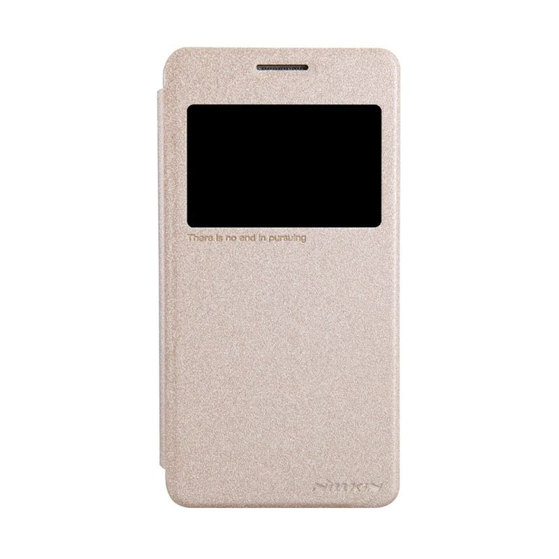 Nillkin Sparkle Leather Gold Casing for Samsung Galaxy Grand Prime G5308W
