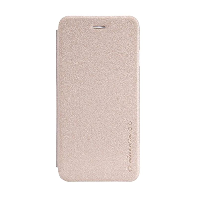 Nillkin Sparkle Leather Gold Casing for Samsung Galaxy J1