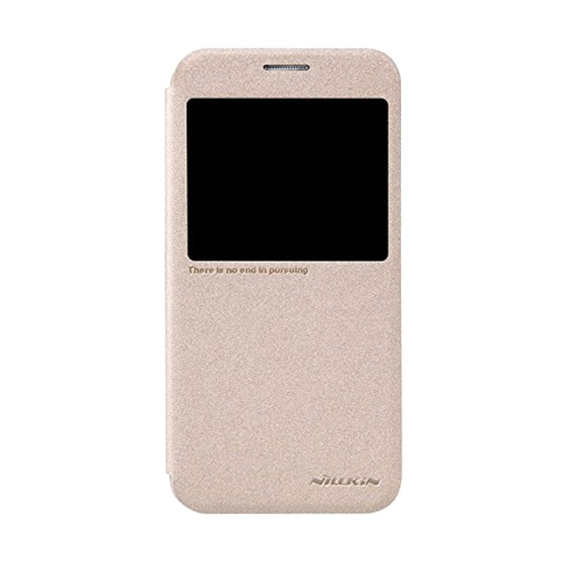 Nillkin Sparkle Leather Gold Casing for Samsung Galaxy S6 G920F