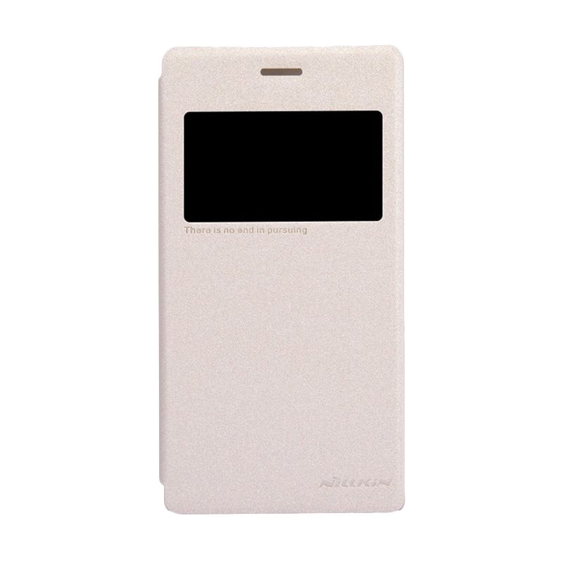 NILLKIN Sparkle Gold Leather Casing for Sony Xperia M2 S50h