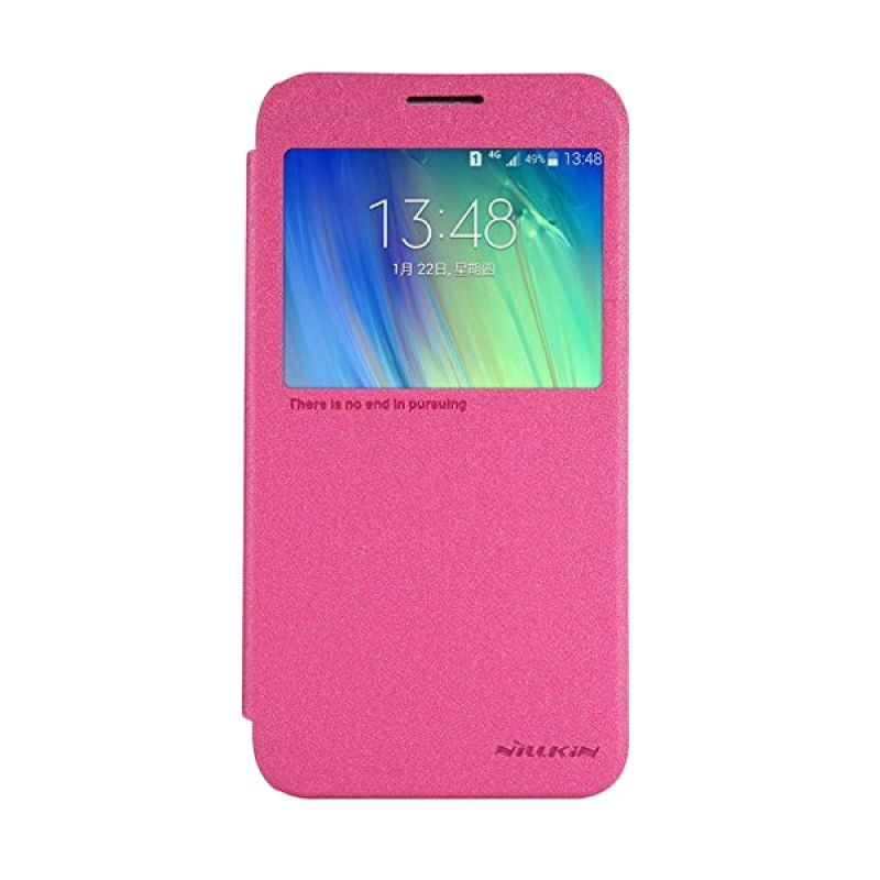 Nillkin Sparkle Leather Pink Casing Samsung Galaxy E7 E700