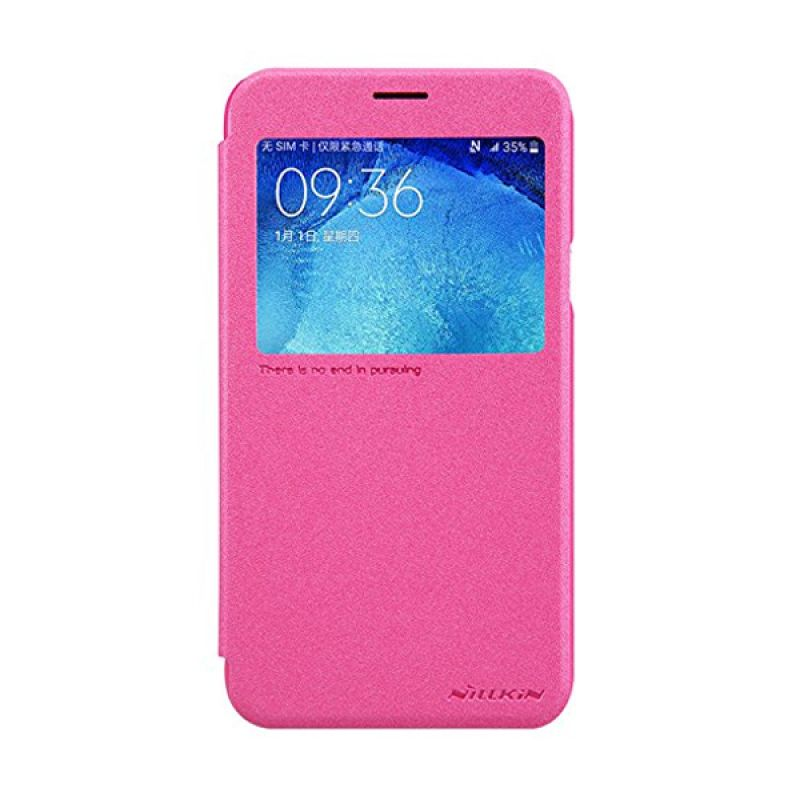Nillkin Sparkle Leather Pink Casing for Samsung Galaxy J7