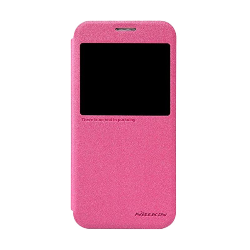 NILLKIN Sparkle Pink Leather Casing for Samsung Galaxy S6 G920F