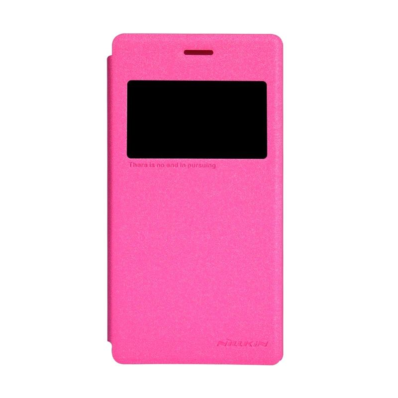 NILLKIN Sparkle Pink Leather Casing for Sony Xperia M2 S50h