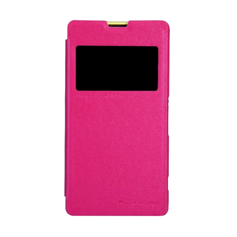 NILLKIN Sparkle Leather Pink Casing for Sony Xperia Z1 Compact/Z1 mini (M51w)