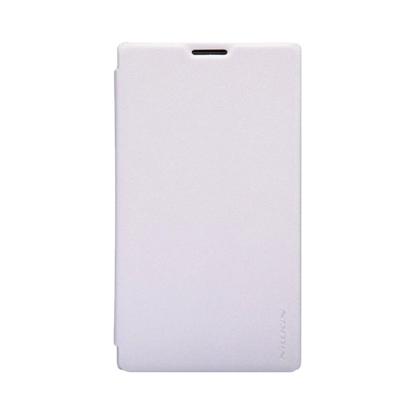 NILLKIN Sparkle White Leather Casing for Nokia XL or XL Dual