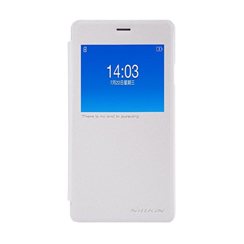 Nillkin Sparkle Leather Case White Casing for Oppo Joy 3 A11