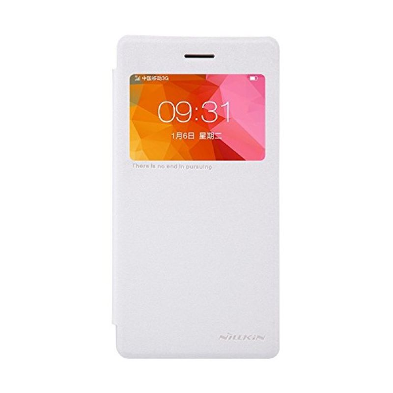 Nillkin Sparkle White Leather Casing for Oppo R5 [R8107]