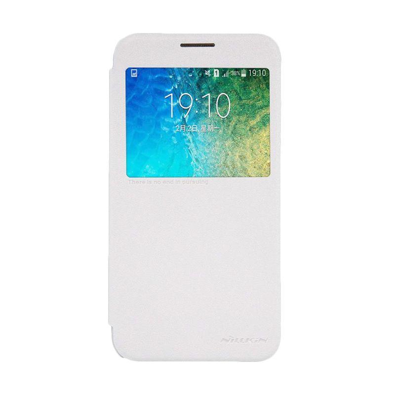 NILLKIN Sparkle Leather White Casing for Samsung Galaxy E5 E500
