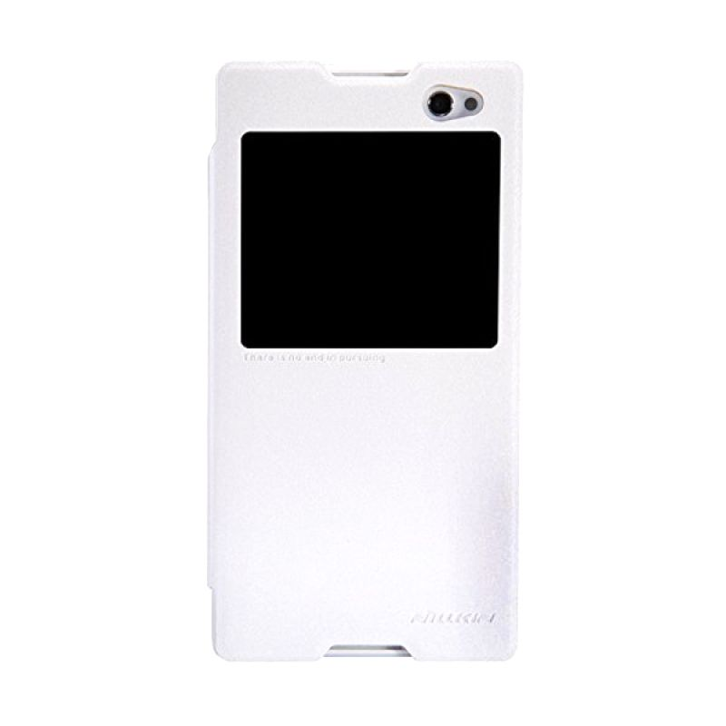 Nillkin Sparkle Leather White Casing for Sony Xperia C3/C3 Dual S55T