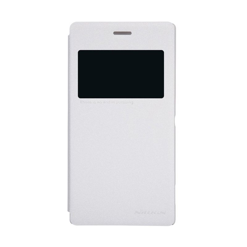 NILLKIN Sparkle White Leather Casing for Sony Xperia M2 S50h