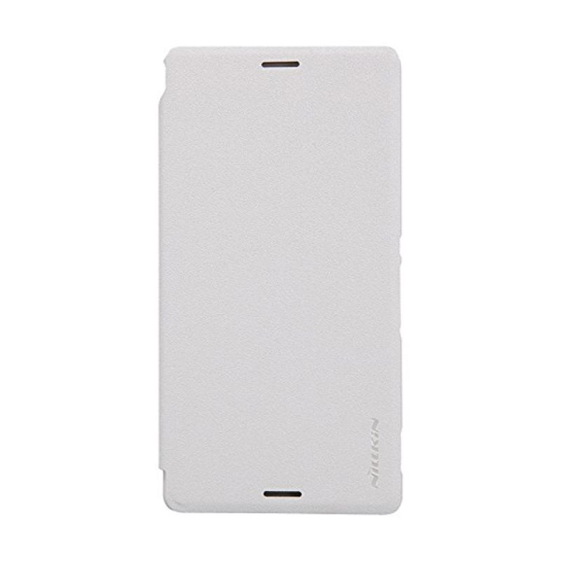 NILLKIN Sparkle White Leather Casing for Sony Xperia M4 Aqua