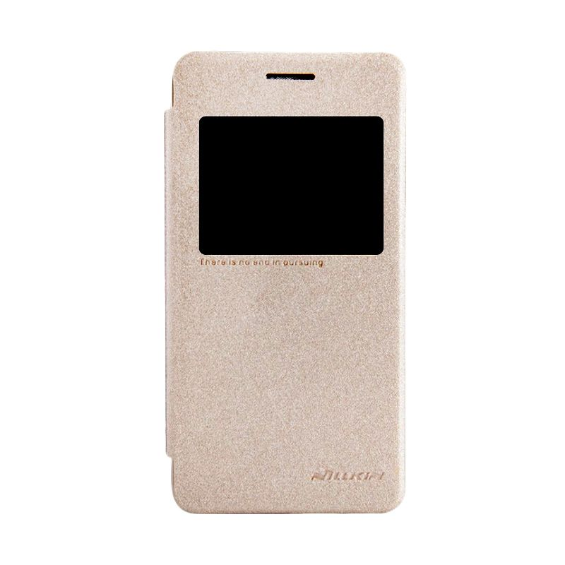 Nillkin Sparkle Leather Gold Casing for Asus Zenfone 4S A450CG