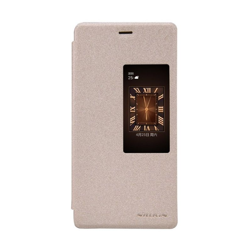 Nillkin Sparkle Leather Gold Casing for Huawei Ascend P8