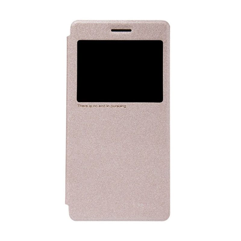 NILLKIN Sparkle Leather Gold Casing for Lenovo K3 Note A7000