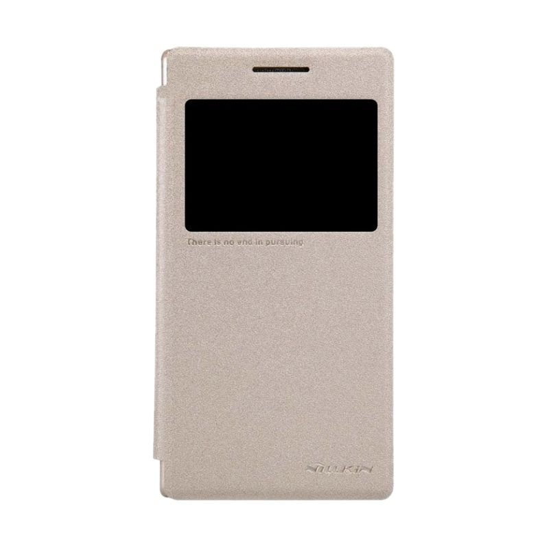 Nillkin Sparkle Leather Gold Casing for Lenovo P70