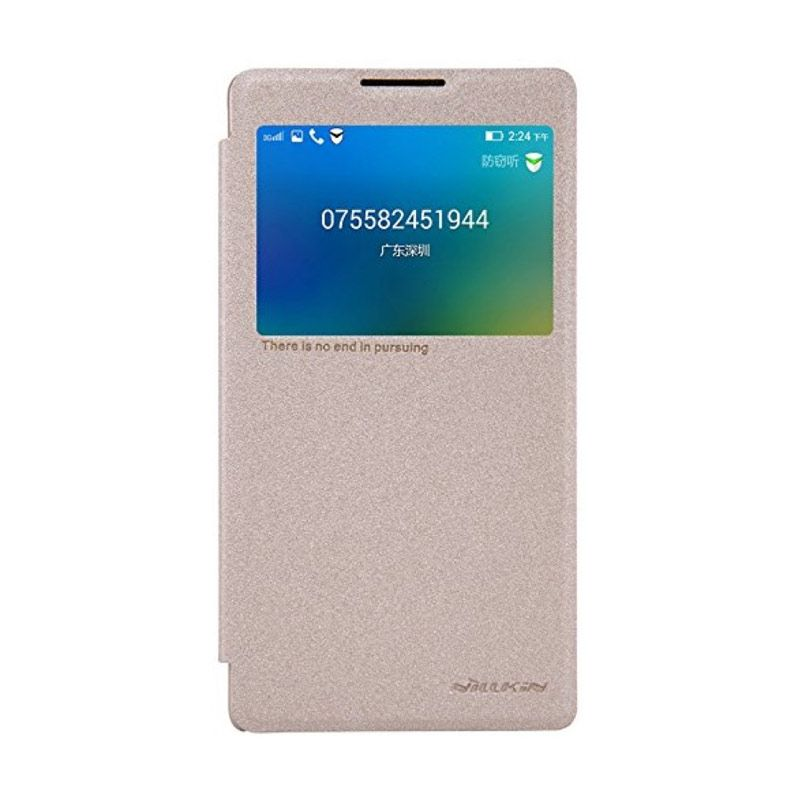 Nillkin Sparkle Leather Gold Casing for Lenovo P90