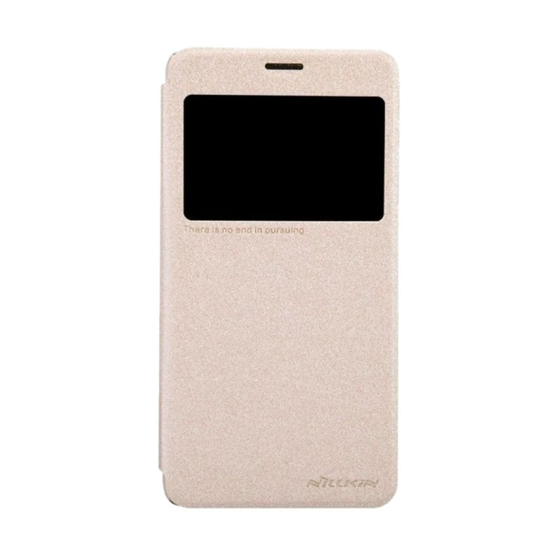 Nillkin Sparkle Leather Gold Casing for Lenovo S850