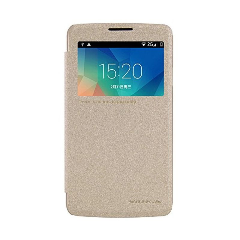 Nillkin Sparkle Leather Gold Casing for LG L60 X145