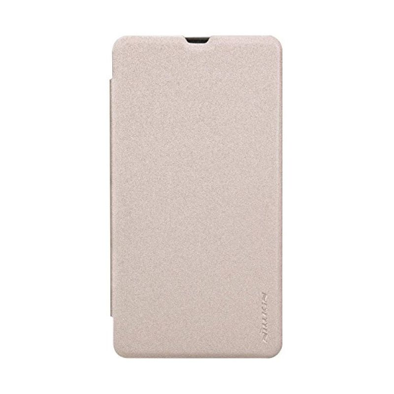 Nillkin Sparkle Leather Gold Casing for Nokia Lumia 535