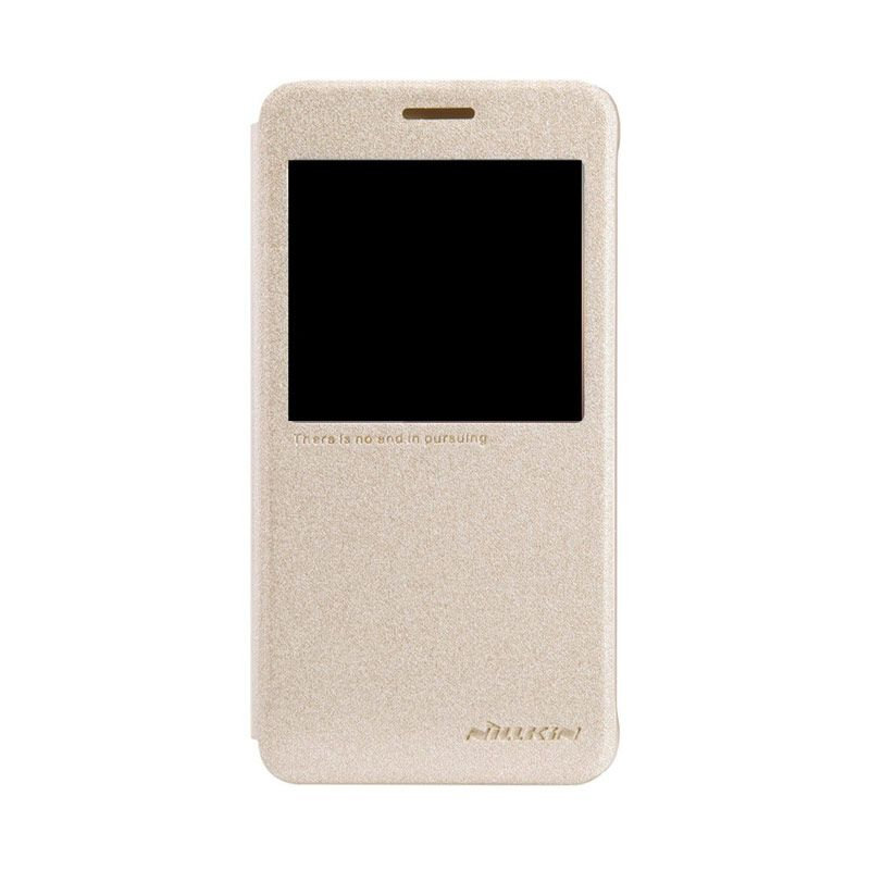 Nillkin Sparkle Leather Gold Casing for Samsung Galaxy Alpha G850