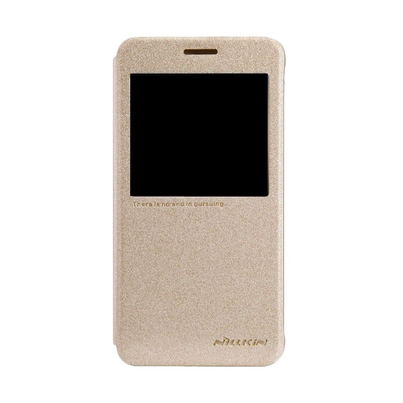 NILLKIN Sparkle Leather Gold Casing for Samsung Galaxy Alpha