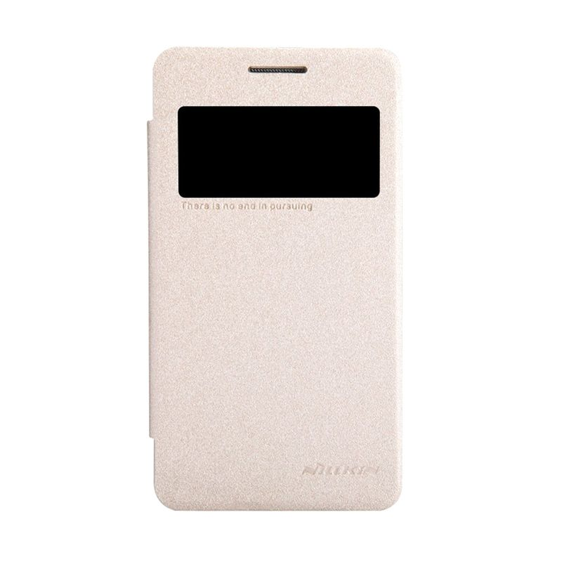 NILLKIN Sparkle Leather Gold Casing for Samsung Galaxy Core 2