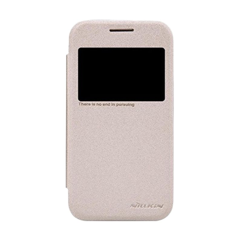 NILLKIN Sparkle Leather Gold Casing for Samsung Galaxy Core Prime
